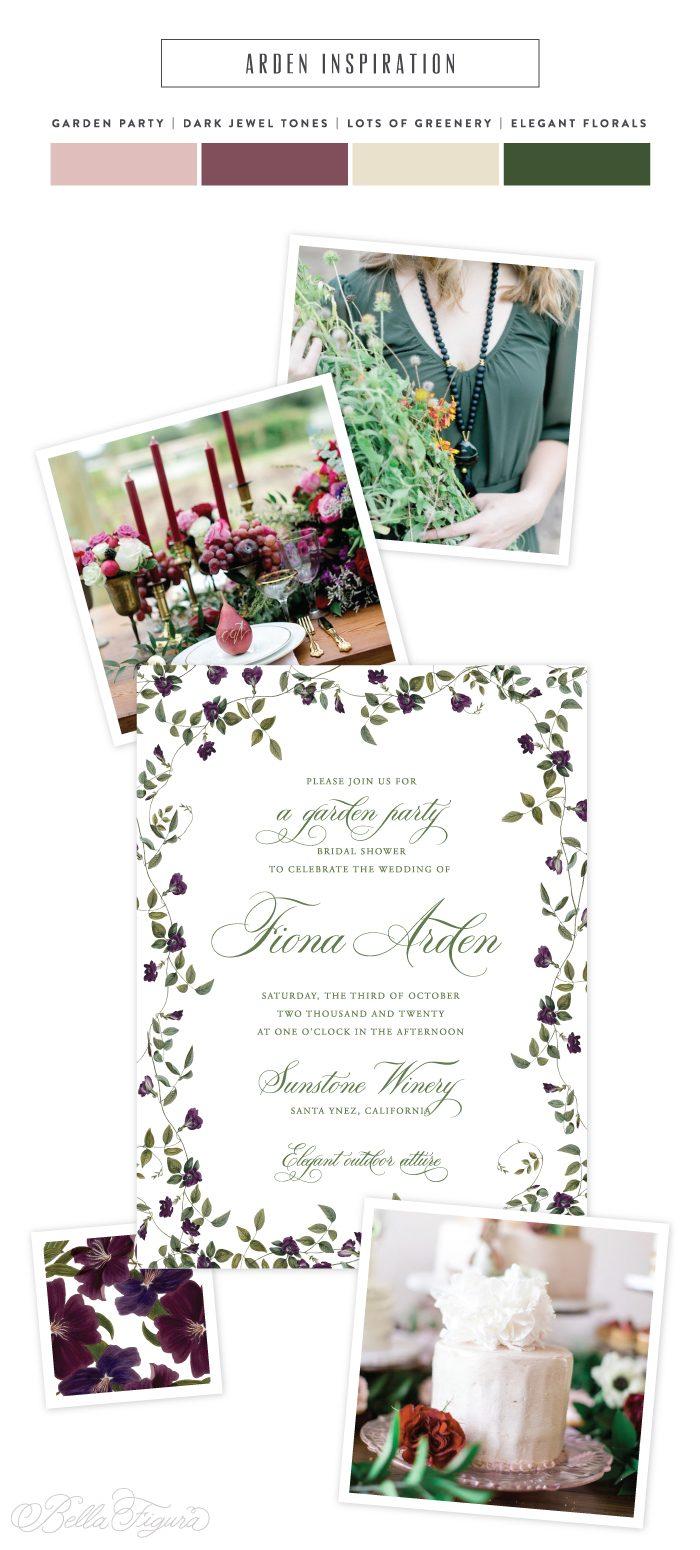 arden elegant garden party invitation inspiration bella figura