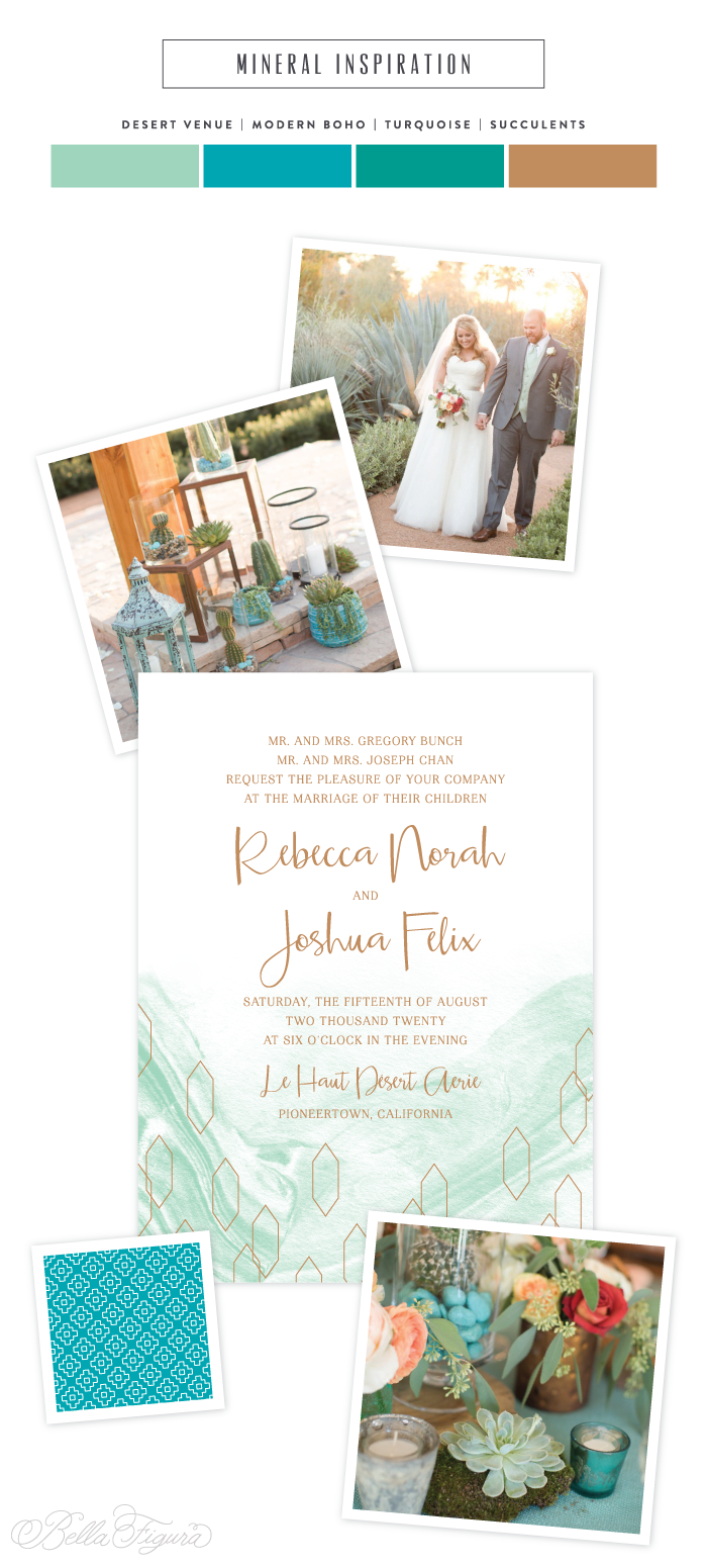 Mineral: modern boho wedding invitation inspiration - Bella Figura
