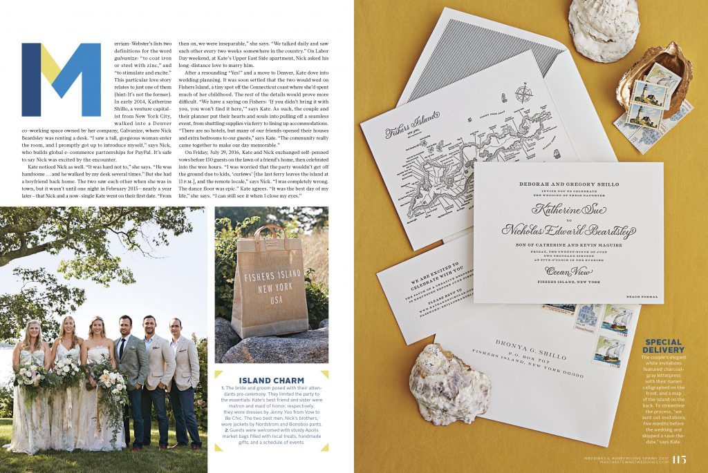 Real Bella Figura wedding on Fishers Island featured by Martha Stewart Weddings