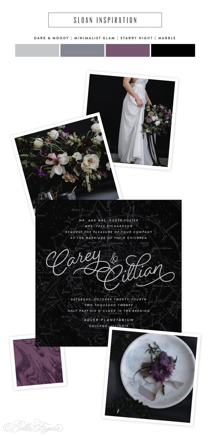 sloan planetarium inspired wedding invitations bella figura