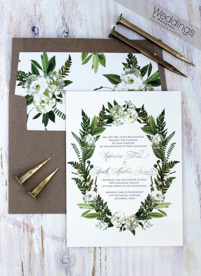 Greenery inspired wedding invitations by Bella Figura featured by ...