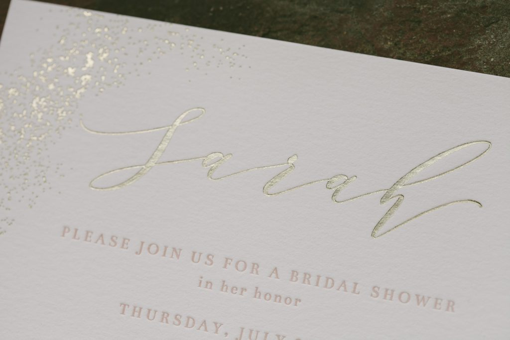 tawny and tea rose bridal shower invitations | Bella Figura