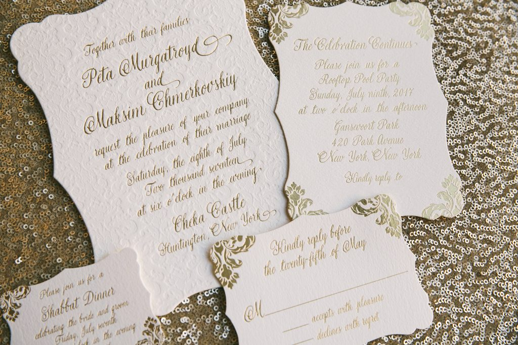 Dancing with the Stars Peta Murgatroyd's custom wedding invitations from Bella Figura