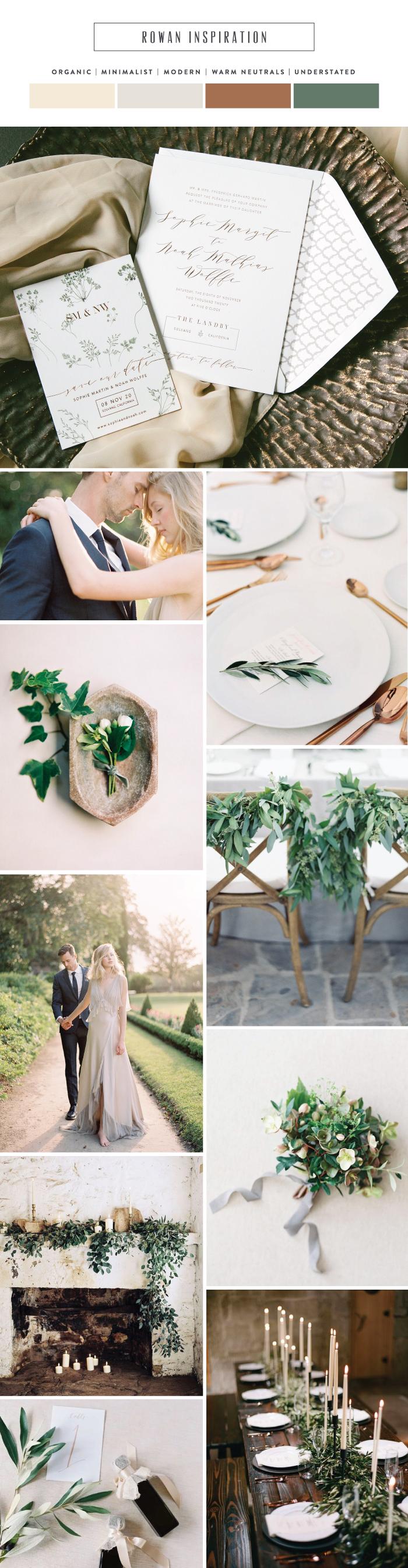 rowan modern minimalist wedding invitations bella figura