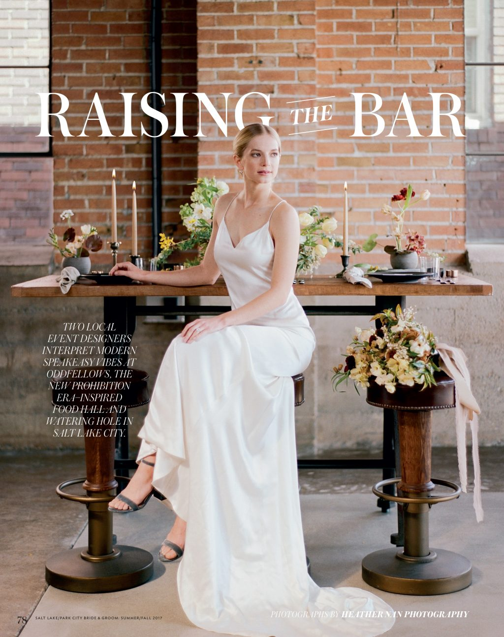 Bella Figura's Natura wedding invitations were featured in the Summer / Fall 2017 issue of Salt Lake / Park City Bride & Groom magazine