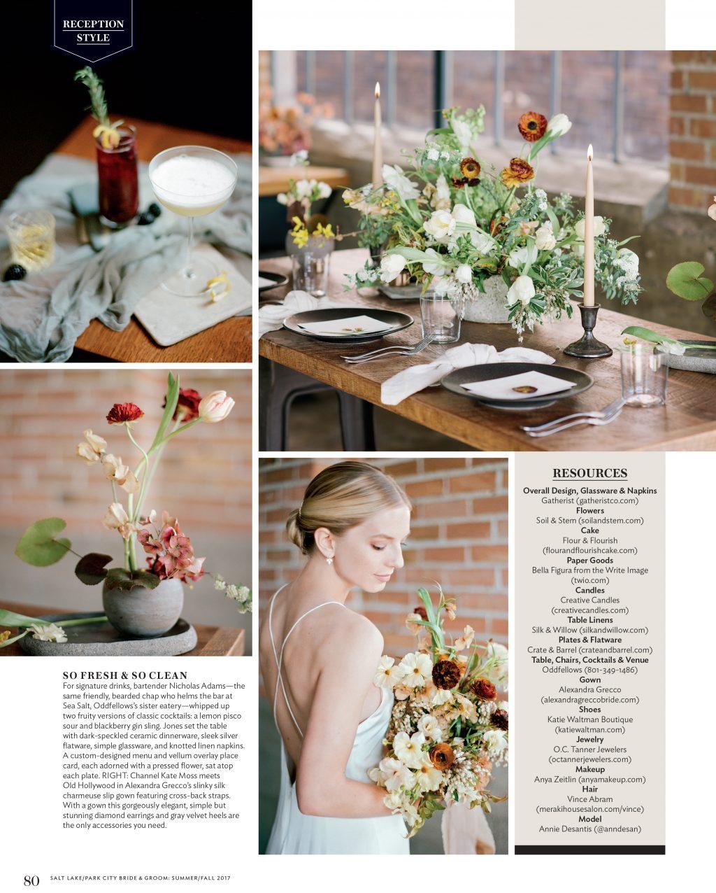 Bella Figura's Natura wedding invitations were featured in the Summer / Fall 2017 issue of Salt Lake / Park City Bride & Groom magazine