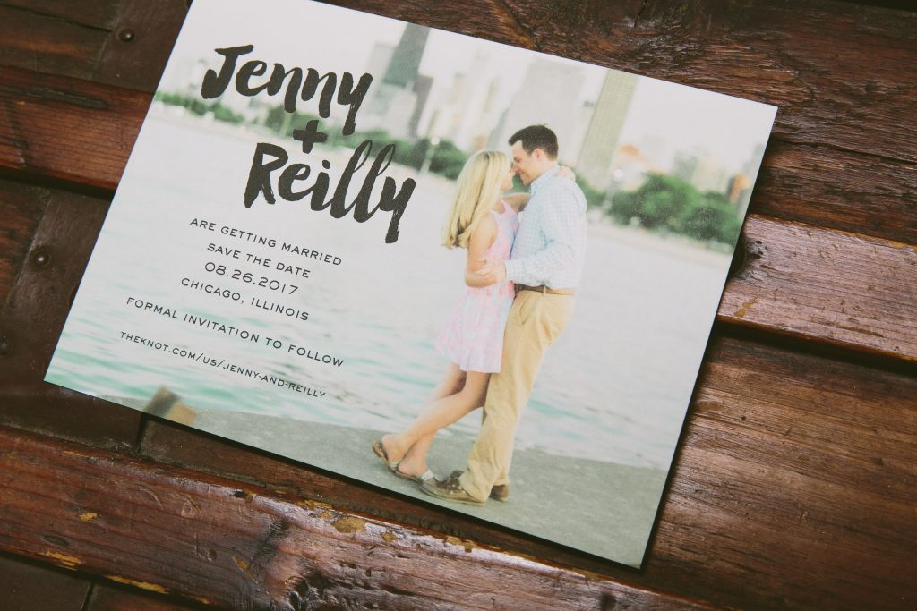 Modern floral wedding invitations for Chicago wedding | Bella Figura