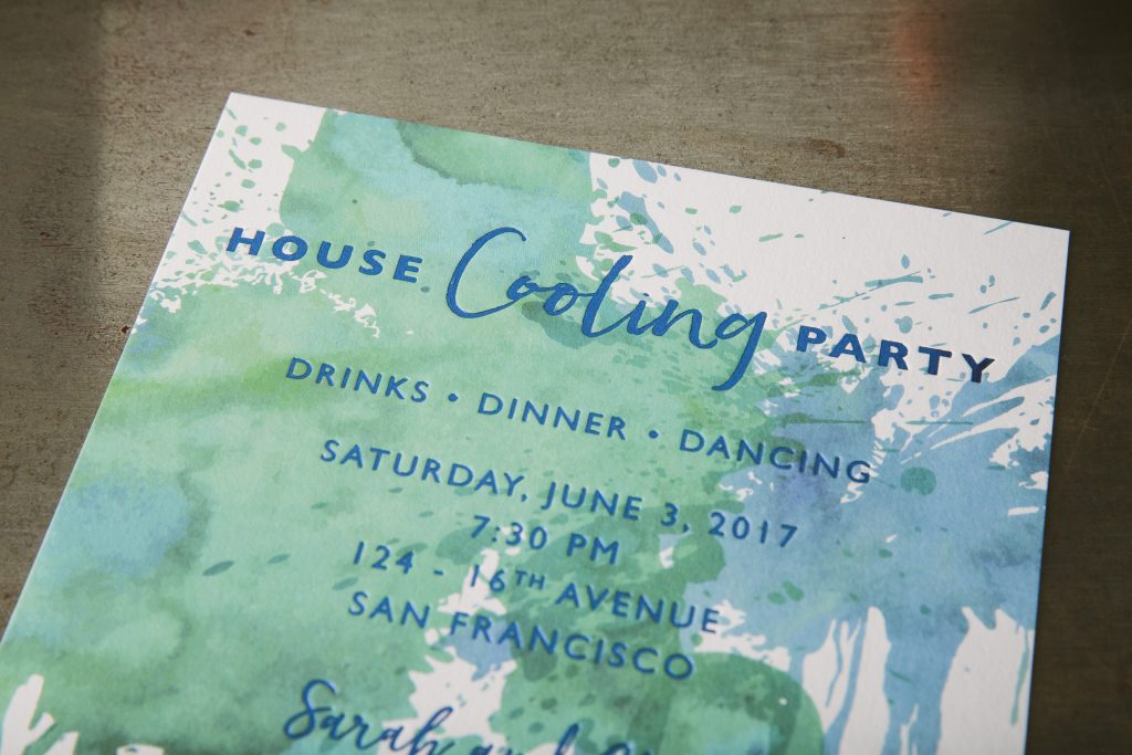 colorful house cooling party invitations | Bella Figura