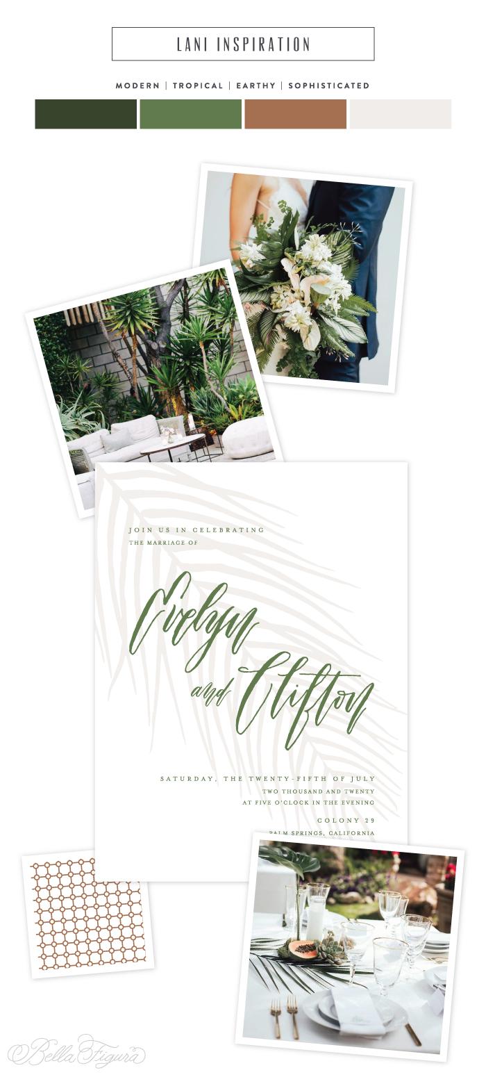 Lani: modern paradise wedding invitation inspiration - Bella Figura