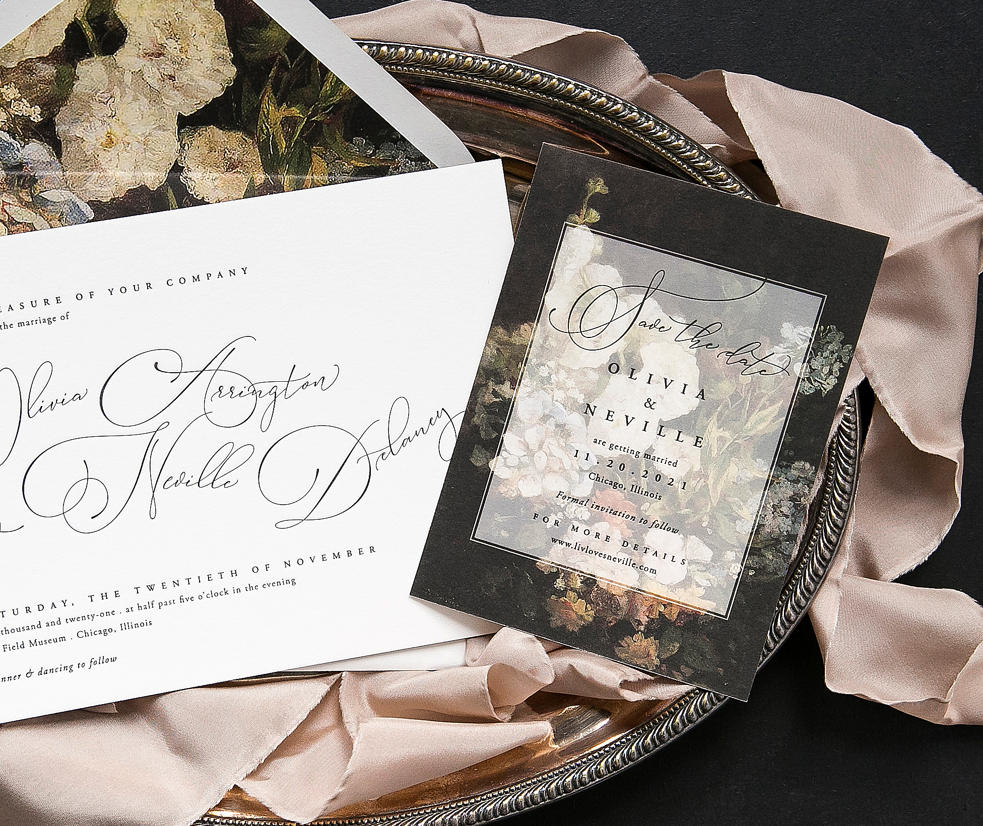 Letterpress wedding invitations from Bella Figura