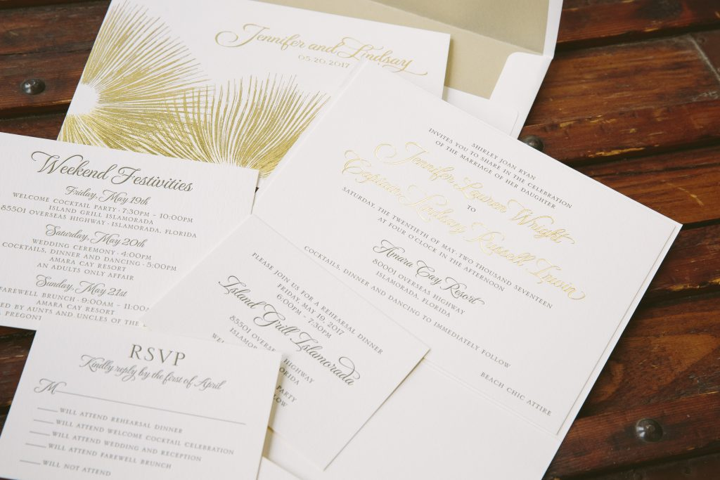 Park grill chicago wedding invitations