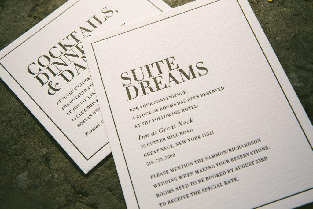 Press\'d   Letterpress wedding invitation ideas from Bella Figura