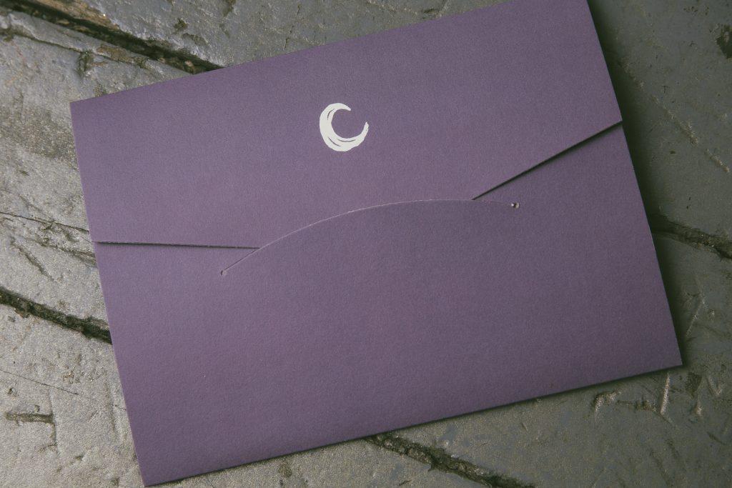 moon and stars wedding invitations for Chicago planetarium wedding | Bella Figura