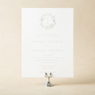 Shop over 300 foil letterpress wedding invitations from bella figura everly wedding invitation design stopboris Image collections