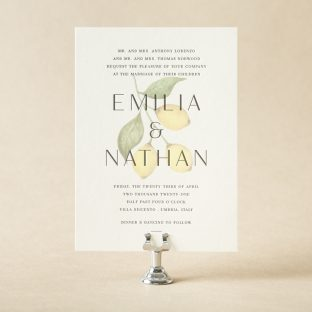 limon wedding invitation design - Letterpress Wedding Invitations