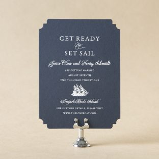 Sail Save the Date design