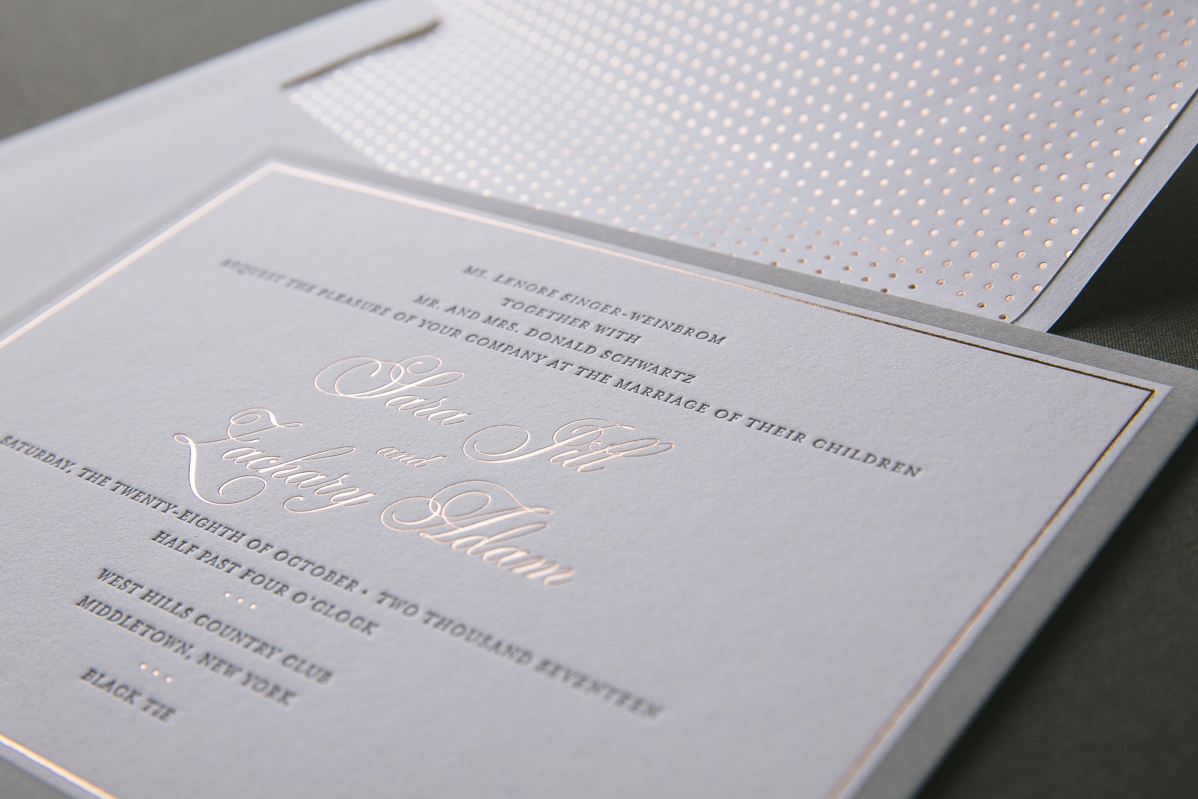 foil stamped envelope liners Bella Figura
