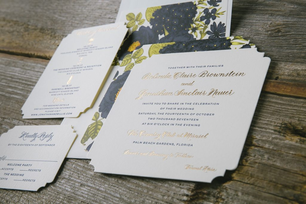 Whimsical hand calligraphy wedding invitations | Bella Figura