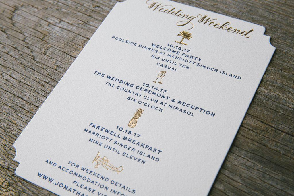 Whimsical hand calligraphy wedding invitations | Bella Figura