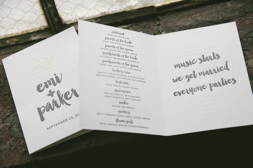 Origami crane day-of wedding pieces | Bella Figura