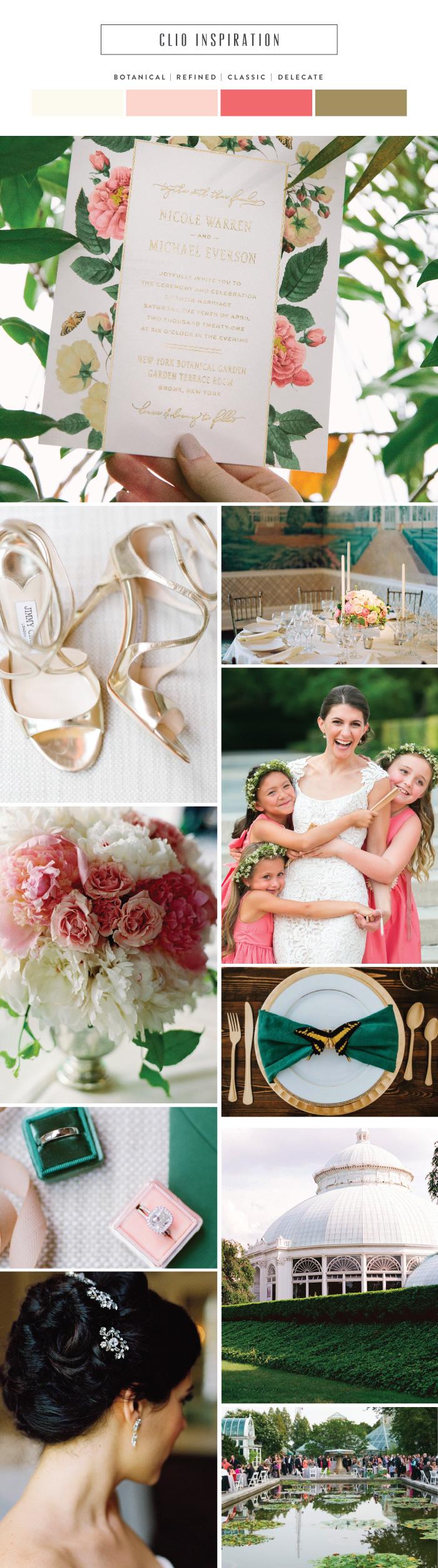 Introducing Clio: New York Botanical Garden inspired wedding invitations | Bella Figura