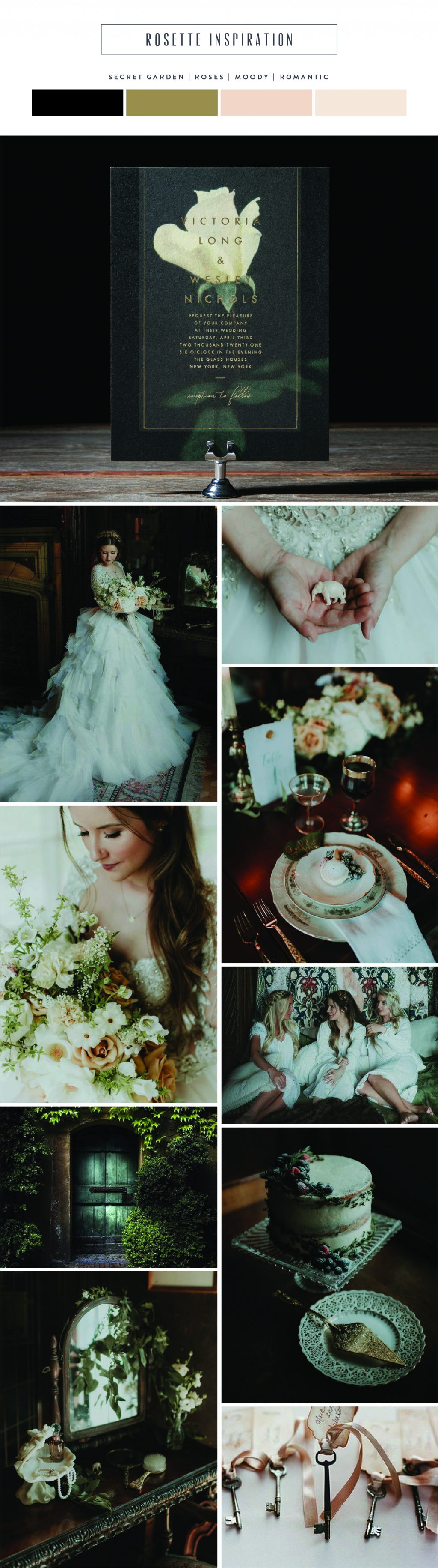 Introducing Rosette: secret garden inspired wedding invitations by Bella Figura
