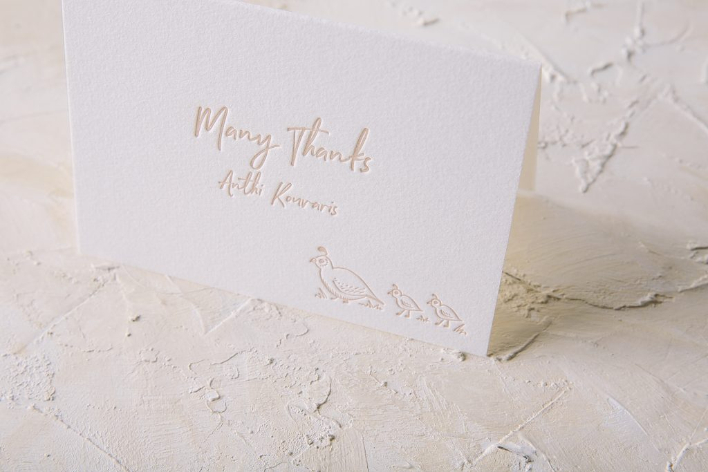 letterpress woodland baby shower invitations Bella Figura