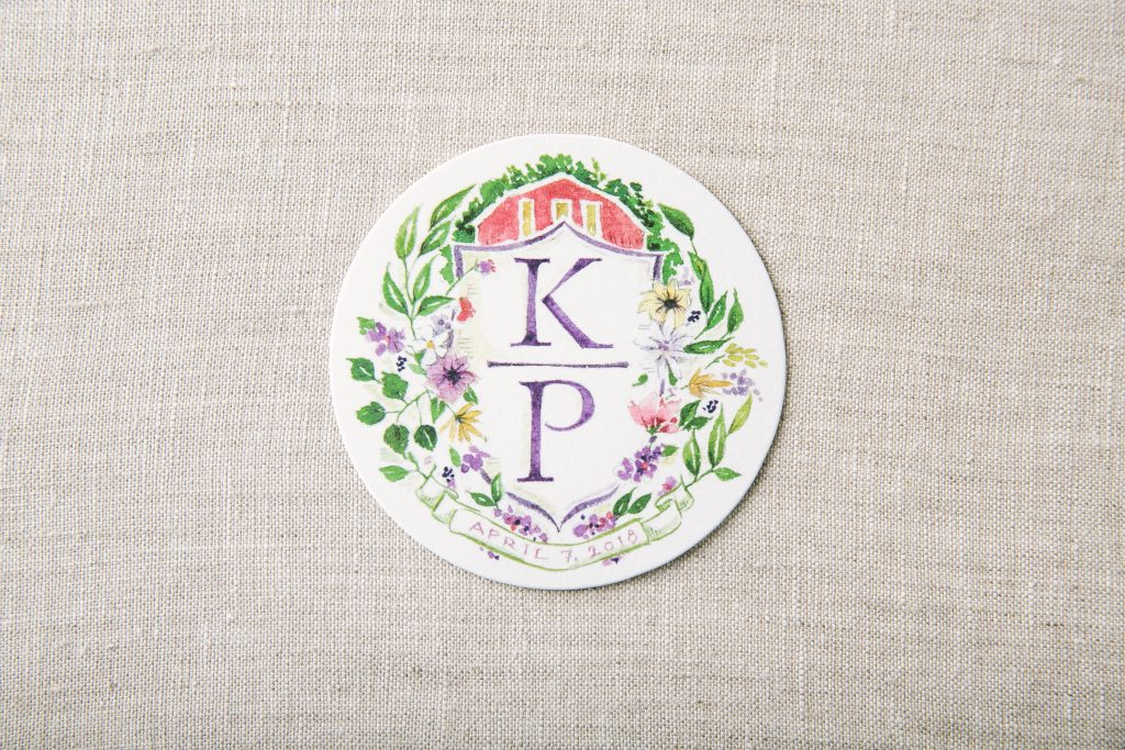 letterpress calligraphy wedding invitations for Blackberry Farm wedding | Bella Figura