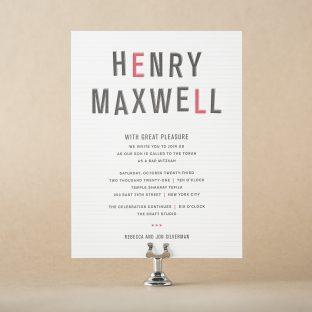 Maxwell Mitzvah design