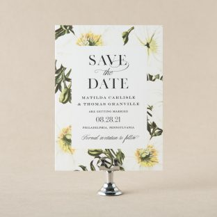 Engraved Somerie save the date design