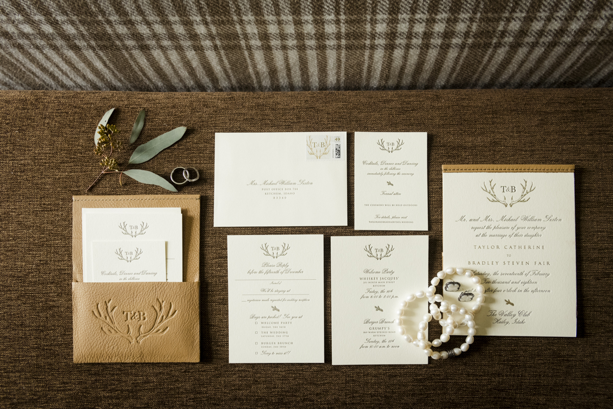 Refined letterpress wedding invitations