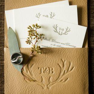 Refined letterpress wedding invitations