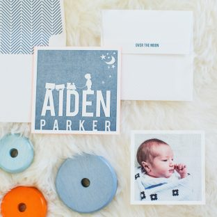 letterpress baby announcements