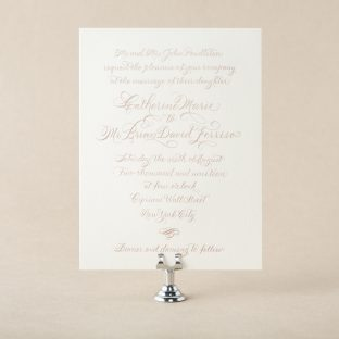 Engraved Classic Calligraphy design