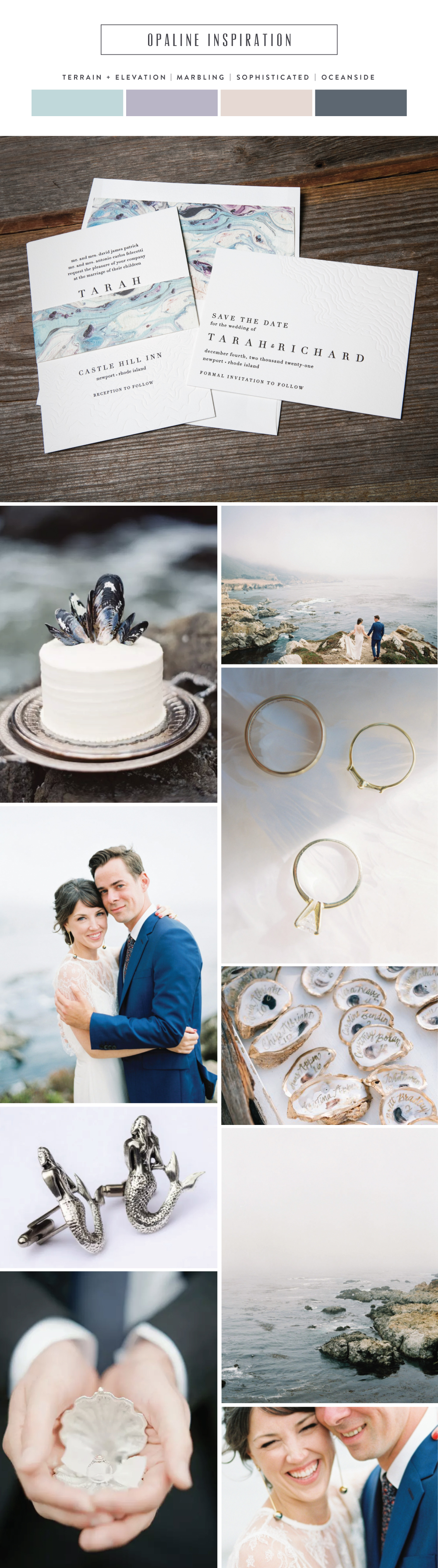 Introducing Opaline: sophisticated oceanside wedding invitation inspiration by Bella Figura