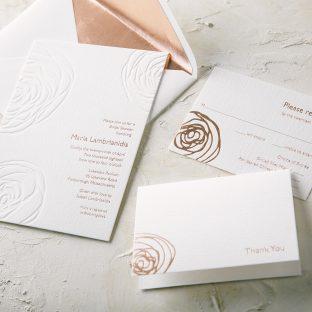 Bridal shower invitations bella figura letterpress printed abstract floral bridal shower invitations filmwisefo