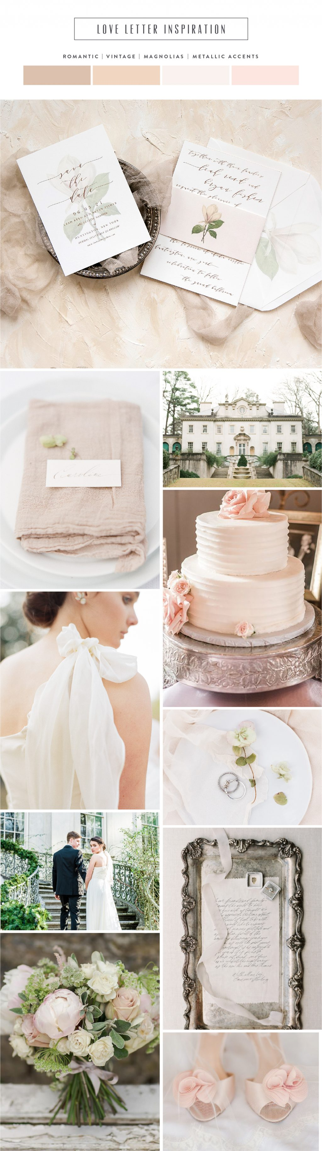 Introducing Love Letter: romantic floral wedding invitation inspiration | Bella Figura