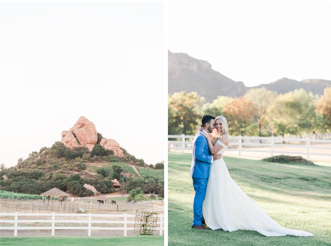 California inspired wedding invitations