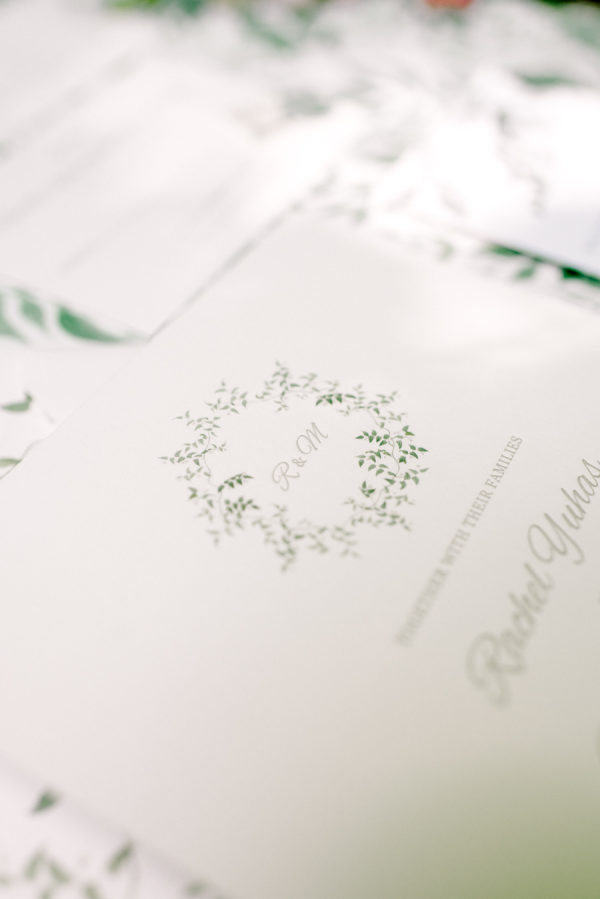 dreamy letterpress wedding invitations