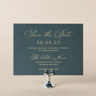 Atrium save the date design