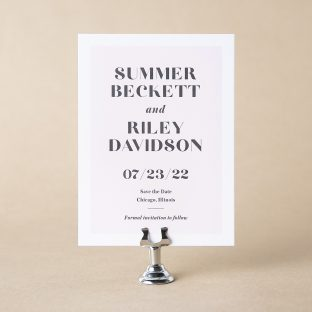 Beckett save the date design