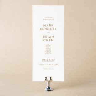 Bordeaux save the date design