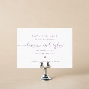 Borough save the date design
