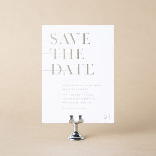 Bourne save the date design
