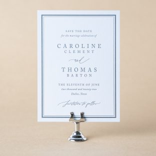 Camber save the date design
