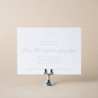 Hillock save the date design
