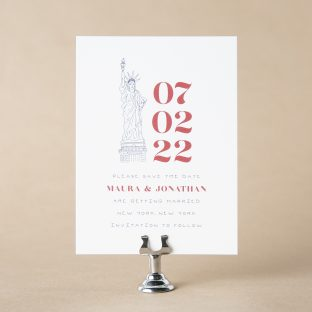Liberty save the date design