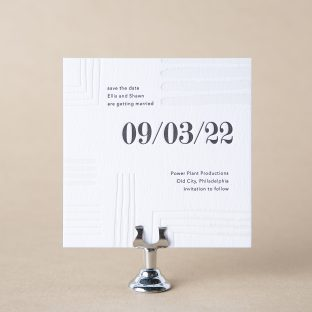 Linear save the date design