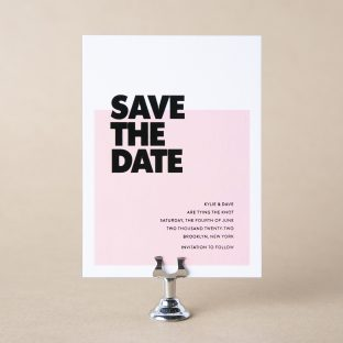 Loft save the date design