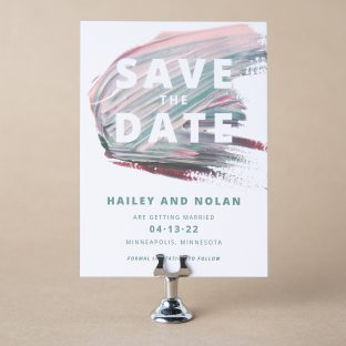 Monet save the date design
